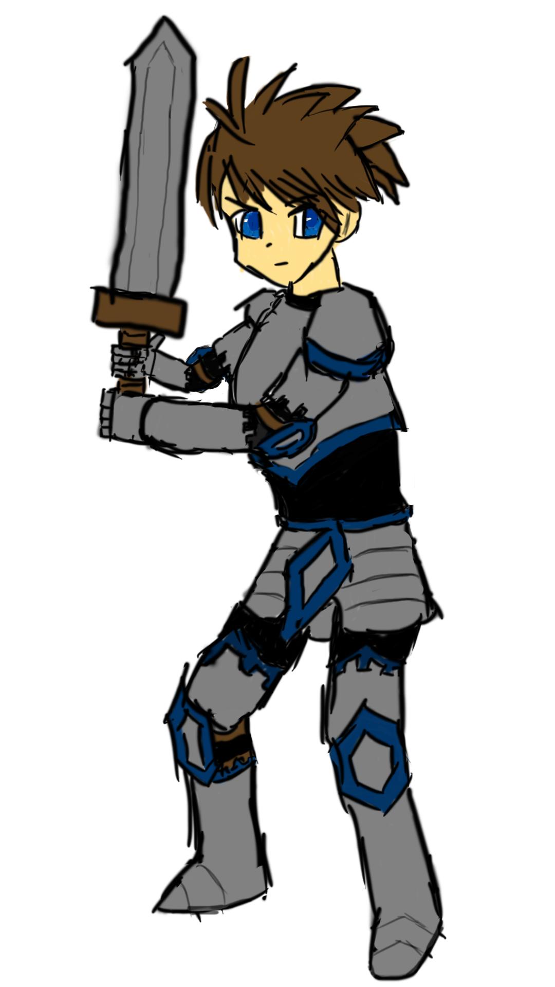 #繪圖創作:2017.10.23-雙手持劍的正太騎士塗鴉